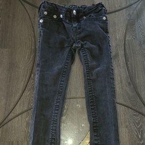 Size 4t girls True Religion Black Jeans